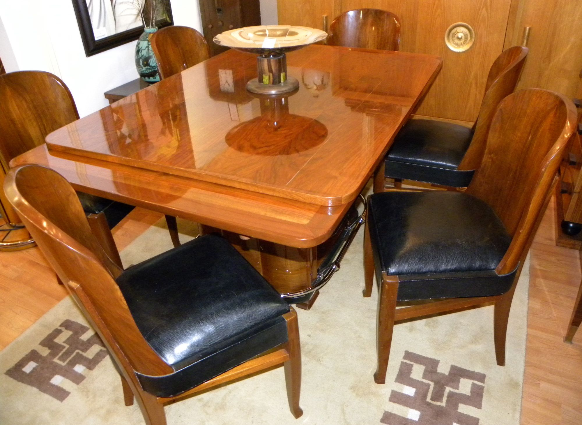 Streamline French Art Deco Dining Table And Chairs Sold Items Dining Room Art Deco Collection