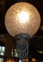 Sabino Glass French Art Deco Iron chandelier!