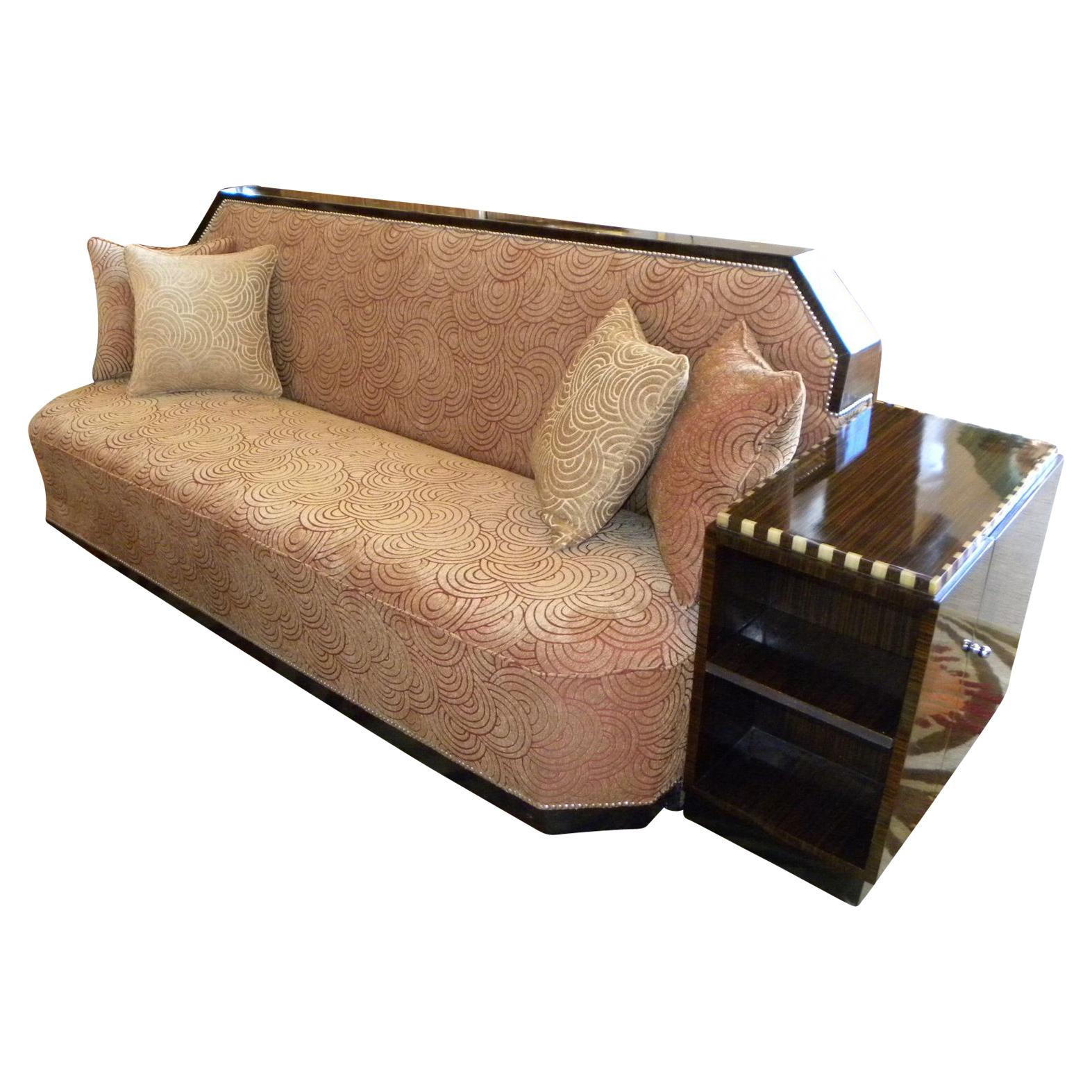 Art Deco Cozy Corner Daybed Sofa