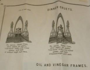 Sweet Art Nouveau to Art Deco WMF silver-plate oil-vinegar cruets circa 1920