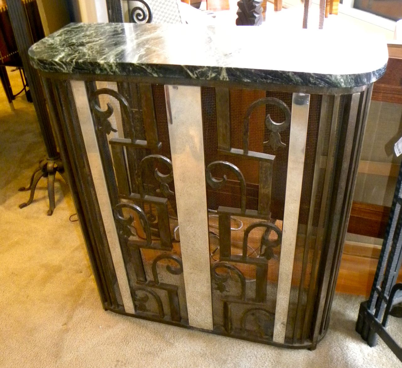 Fabulous french fer forge iron console sold items for Deco fer forge mural