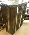 Fabulous French fer-forge iron console, radiator cover or fire-screen