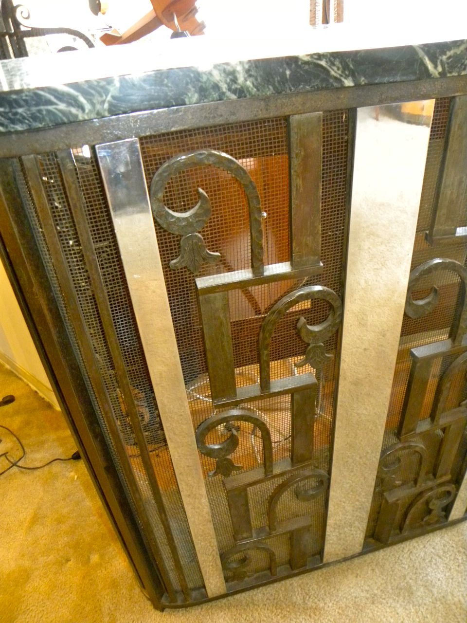 fabulous french fer forge iron console sold items consoles art deco collection. Black Bedroom Furniture Sets. Home Design Ideas