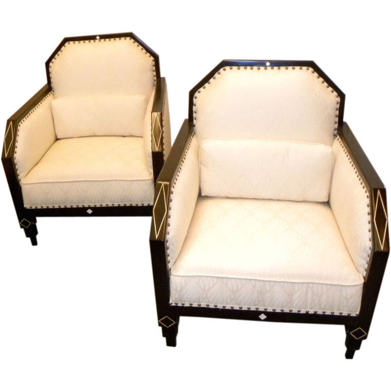 Art deco furniture sold seating items art deco collection for Art deco living room chairs