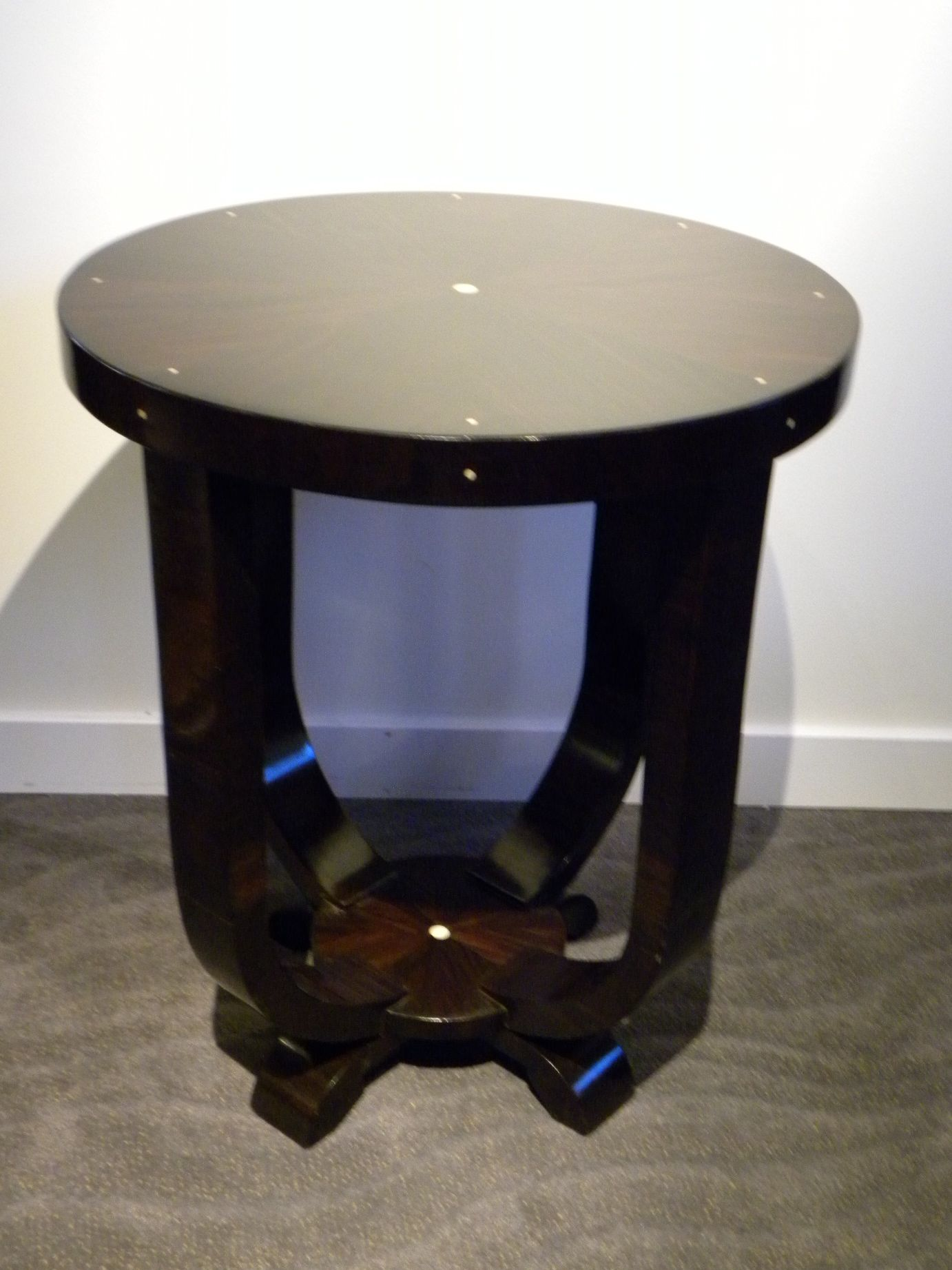 Custom art deco side table sold items small tables art for Petite table deco
