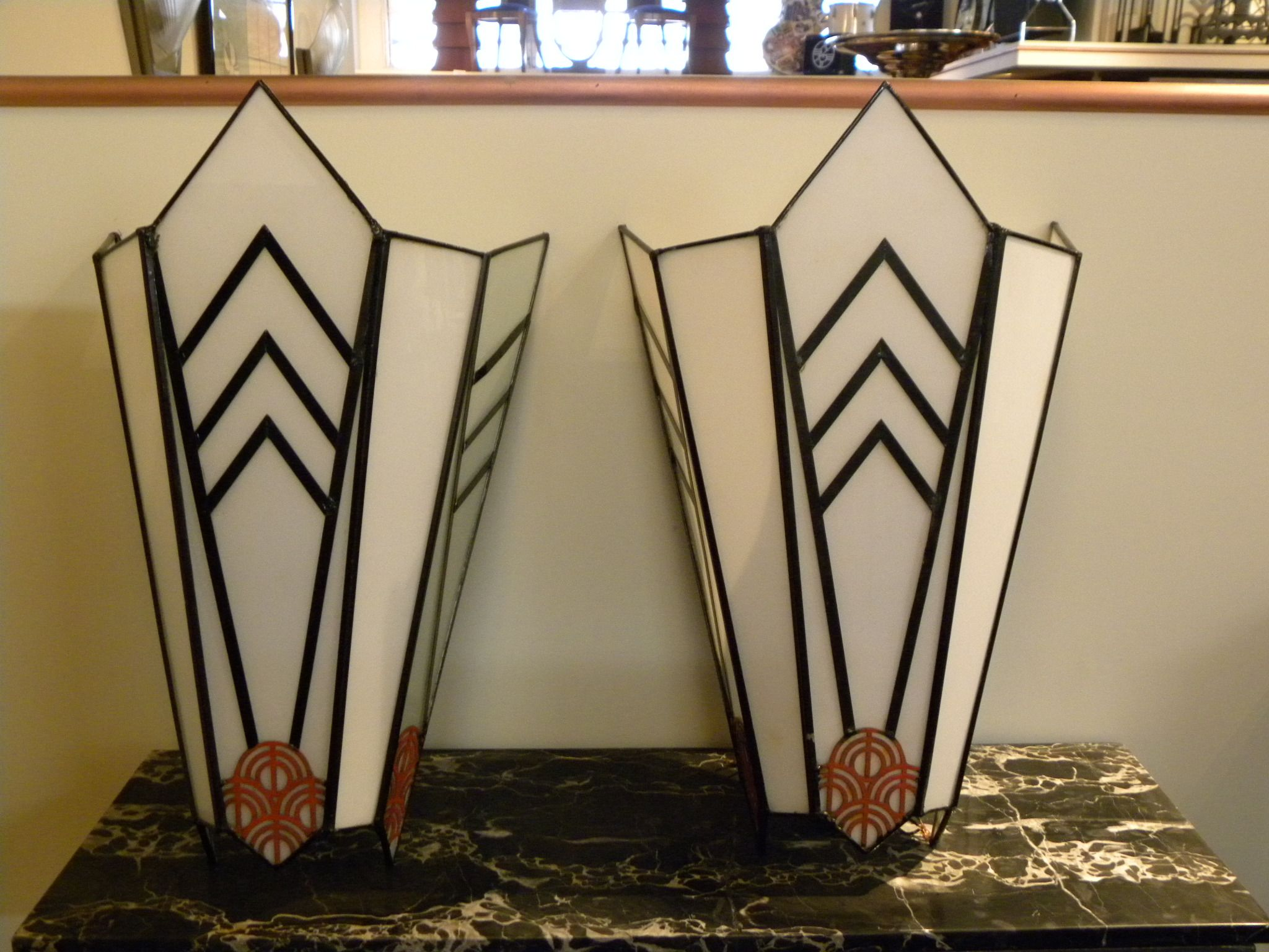 Art deco theater sconces cubist and unique sold items sconces art deco collection - Deco fotos ...