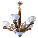 Outstanding original French Art Deco Chandelier