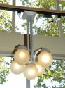 French Art Deco Chandelier with globes