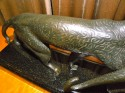 French Bronze Art Deco pair of hunting prowlers by Michael Decoux