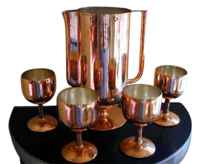 Art Deco Pitcher and Glasses