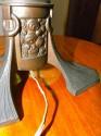 Extremely rare bronzed metal Art Nouveau to Arts & Crafts Jugendstil style desk or table lamp