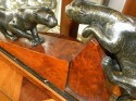 1930's French deco, two spotted cats/cougars playing!