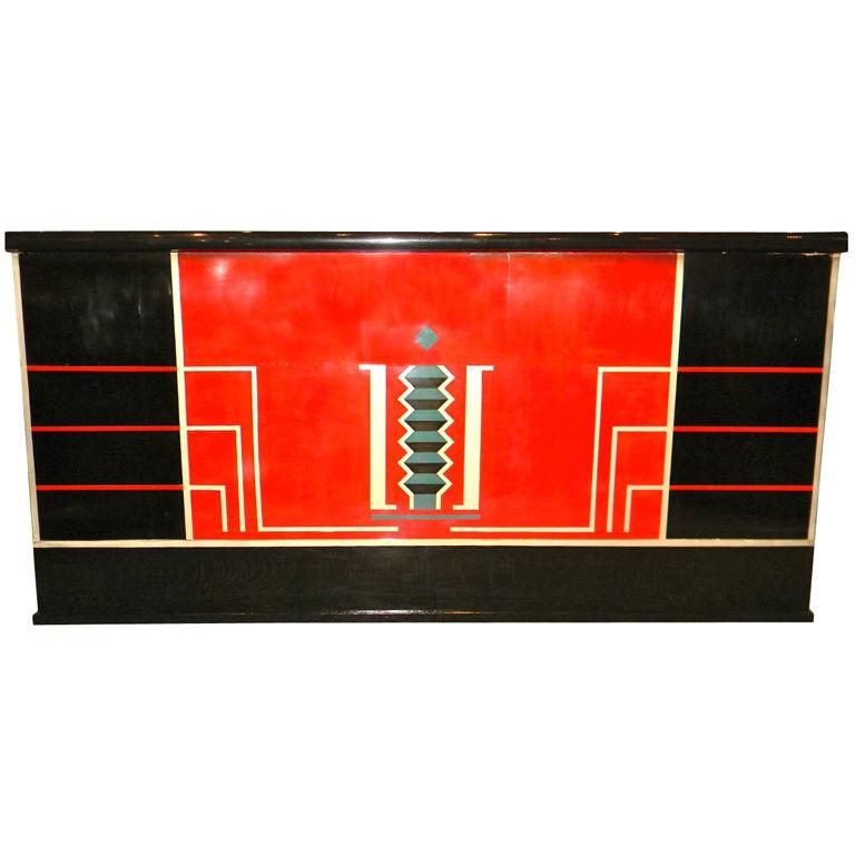 Fabulous stand behind Art Deco Bar Modernist Geometric Design