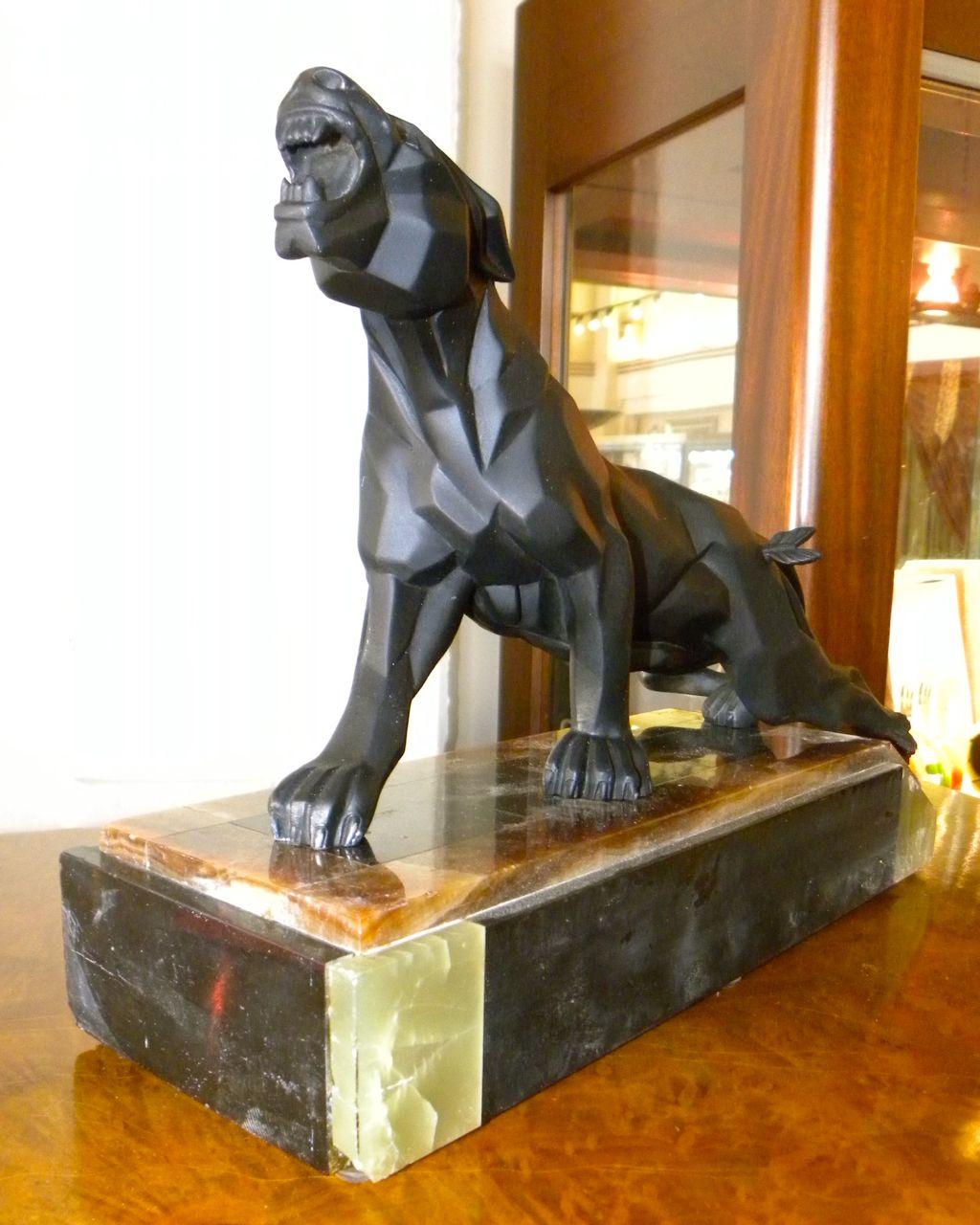 Notari Art Deco Cubist Panther Sculpture Sold Items