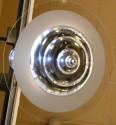Simply Modern French Art Deco chrome stepped disk light