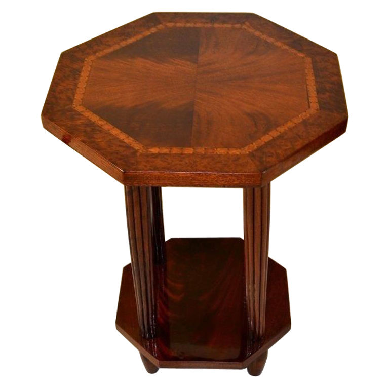 French art deco side table c1920 geometric design sold for Petite table deco