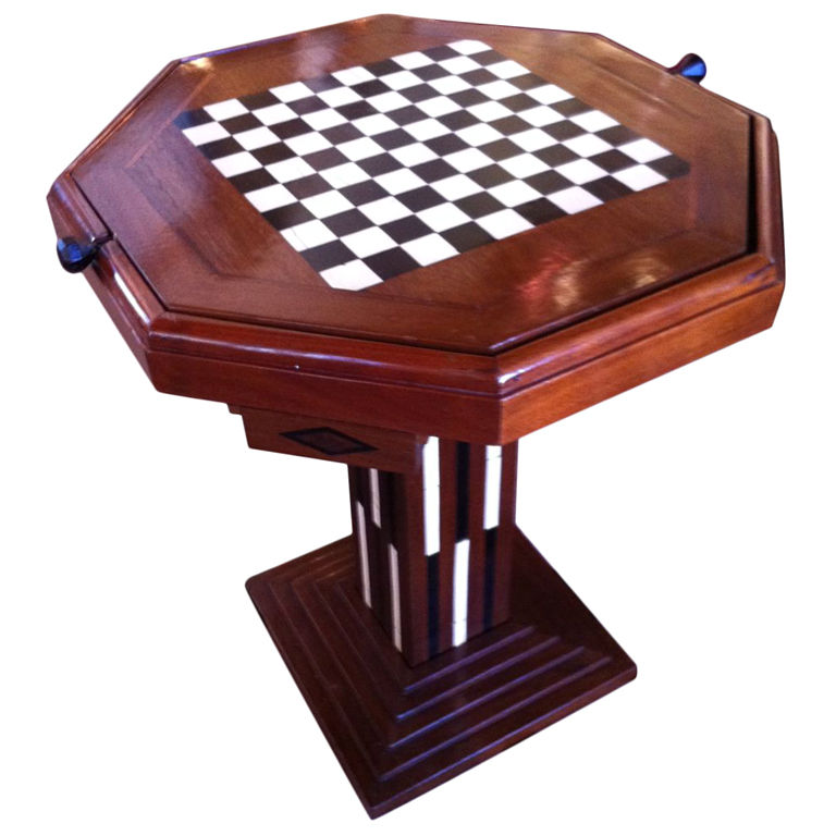 Art Deco Game Table Chess Checkers Backgammon Sold Items