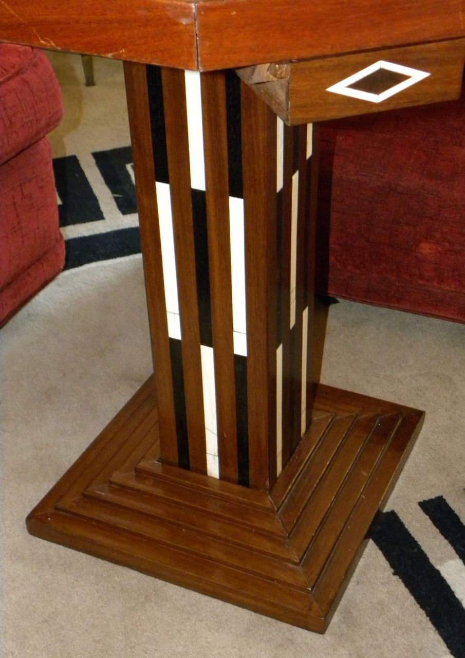 Art deco game table chess checkers backgammon sold items for Petite table deco