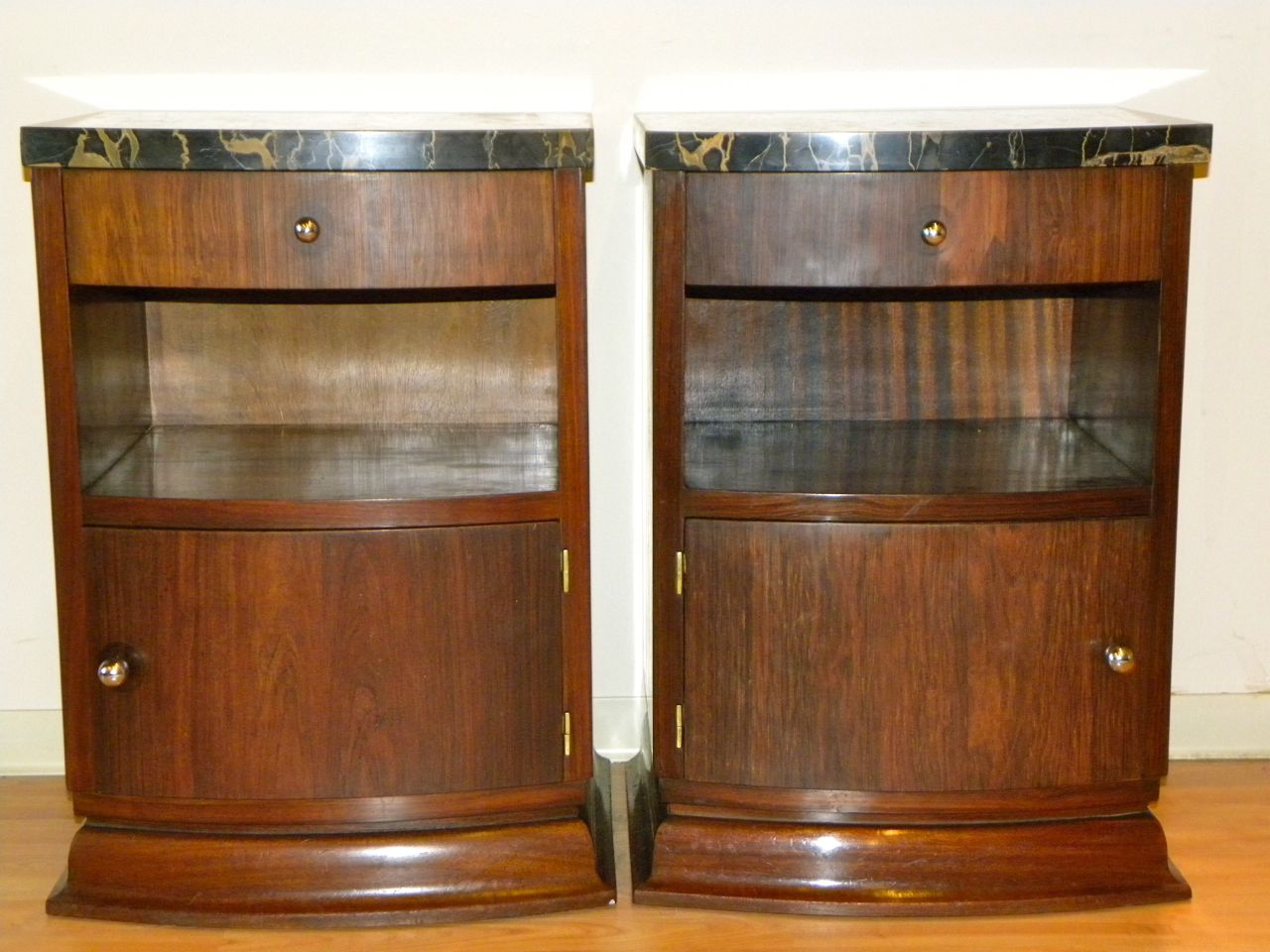 Matching rosewood french art deco side tables sold items for Petite table deco
