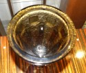 Daum Modernist French Art Deco Deep and Thick Acid Etched Glass