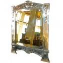 Art Nouveau WMF style bronzed silver table mirror, German