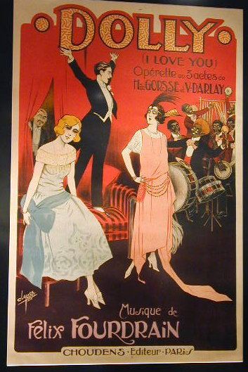 Dolly French Art Deco Poster