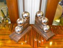 French Modernist Bookends Chrome Balls