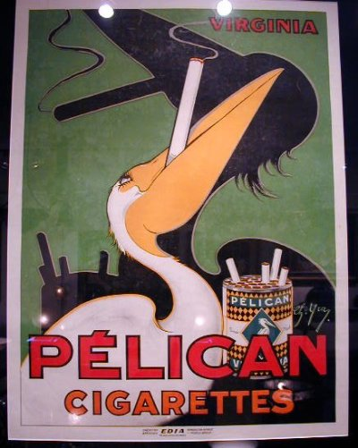 Pelican Cigarettes, French poster