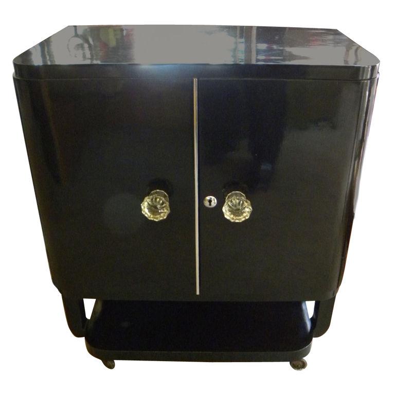 Wonderful Black lacquer mini-bar- a Hollywood classic