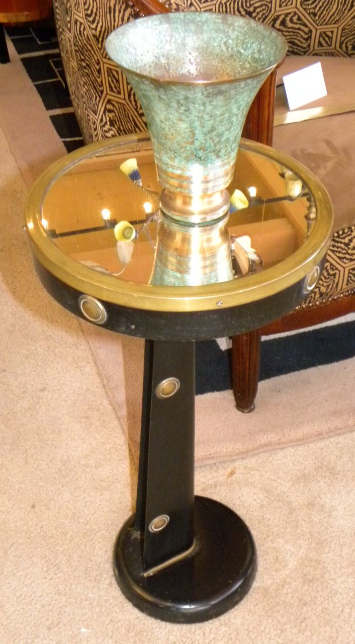 Unusual Nautical Metal Streamline Side Table Sold Items