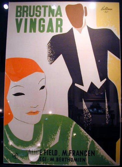 Swedish poster: Brusta Vingar