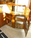 Extremely rare stepped Double Door English Flip Top Bar