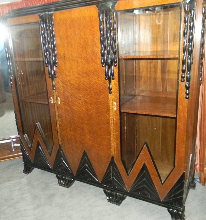Spectacular unique one of kind modernist art deco cabinet storage display sold items bedroom - Deco bed kind ...