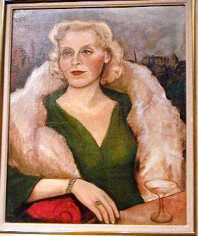 Art Deco Portrait of Russian Socialite