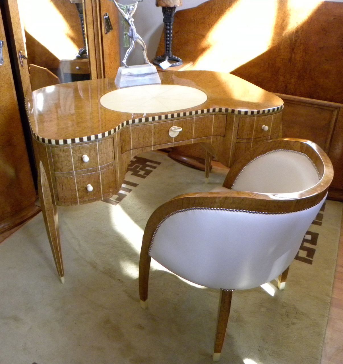 Art deco desk chairs - Art Deco Desk And Chair In Style Of Ruhlmann Desks Cabinets Art Deco Collection