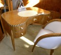 Spectacular Art Deco Desk, Chair and Matching Cabinet in Ruhlmann style!