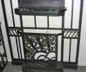 Outstanding French style Iron Hall tree with built in marble console