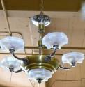 Stunning French Art Deco chandelier original details