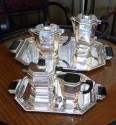Outstanding French Silver-plate Coffee Tea Service by Gallia 1930's