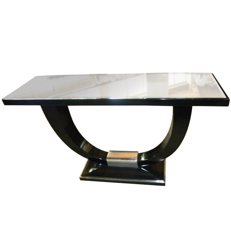 Stunning Art Deco Modernist Console U Shaped Base