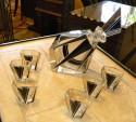 Czechoslovakia Art Deco Glass Decanter set unique