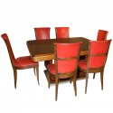 Original French Art Deco Modernist Dining Suite 1930's