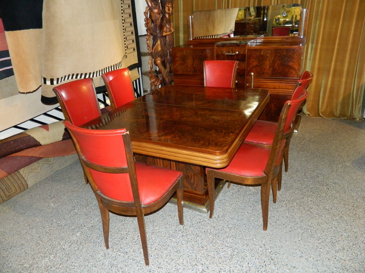 Prime Original French Art Deco Modernist Dining Table And Chairs Machost Co Dining Chair Design Ideas Machostcouk