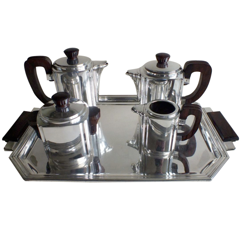 Stunning Art Deco French Coffee Tea Set by Frionnet Francoise