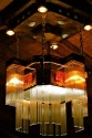 Spectacular hammered Tiffany style Chandelier, Arts & Crafts
