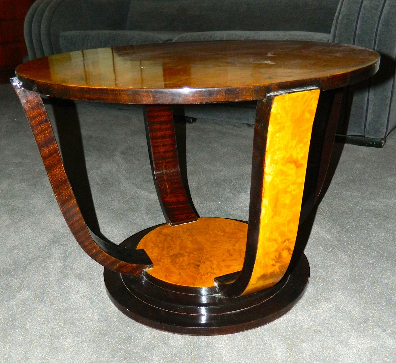 Two Tone Art Deco Round Table Sold Items Small Tables