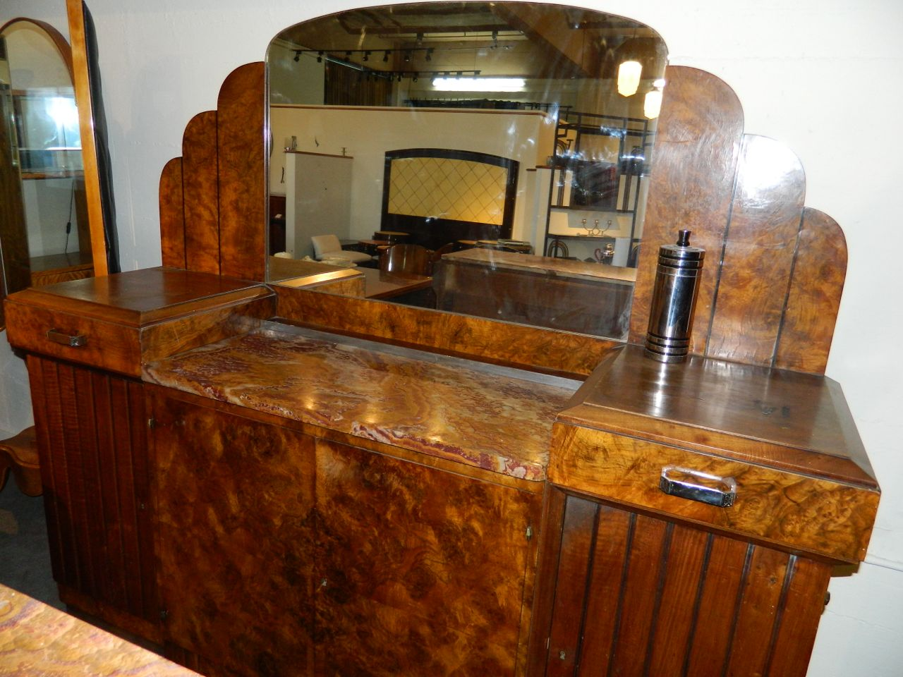 Stunning French Art Deco Buffet with Matching Mirror 1930′s | Sold ...