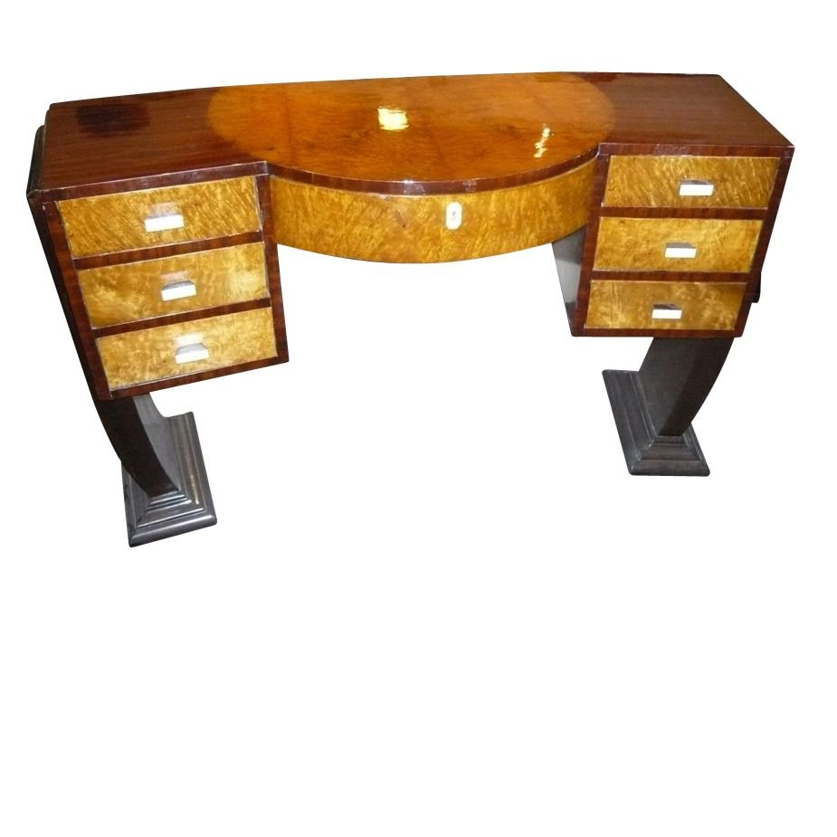 style fluted black andr groult andre art desk leather mahoganny manner jean fray product brass french marc deco dovetailed b
