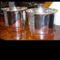 Pair of Art Deco Silver-plate Jardinieres