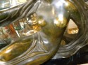 Art Deco bronze woman Statue on marble base
